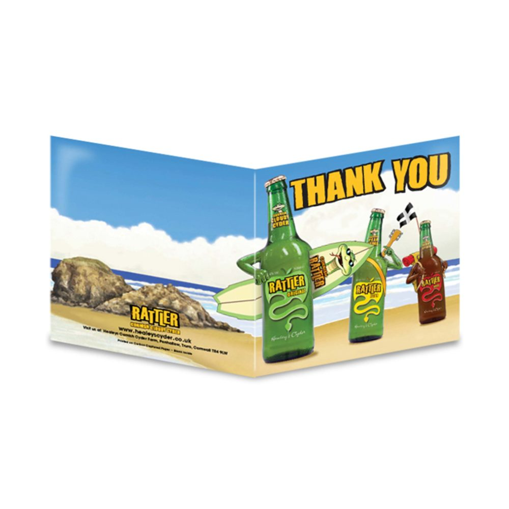 Rattler Thank you Card