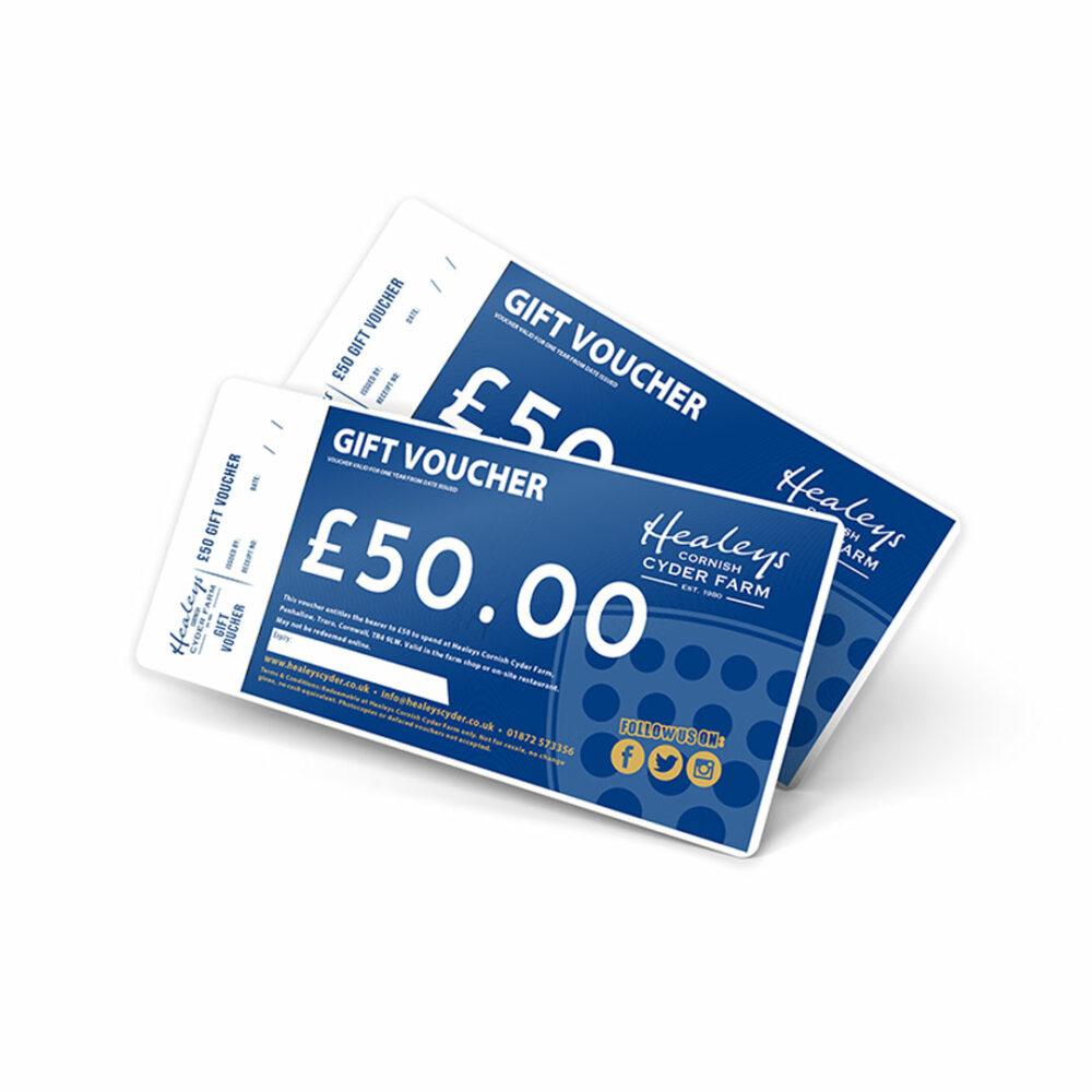 Healeys Gift Vouchers - £50