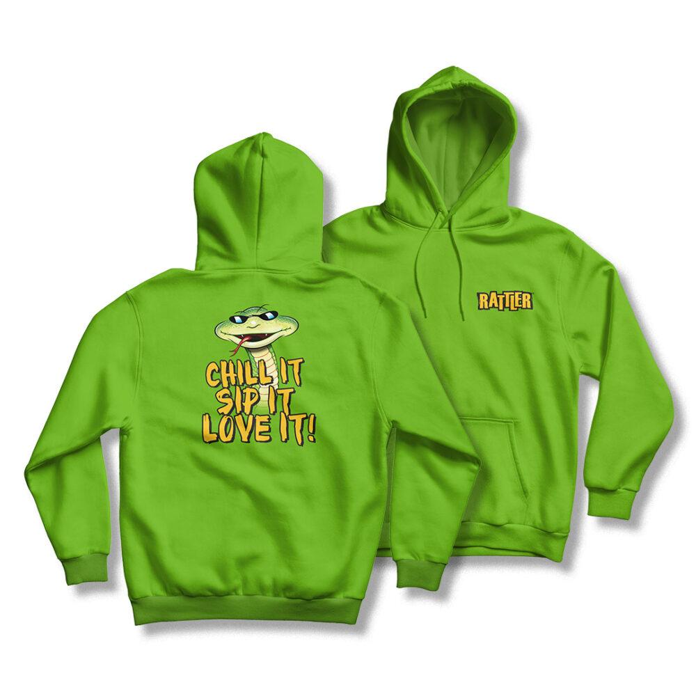 Green Rattler Hoody