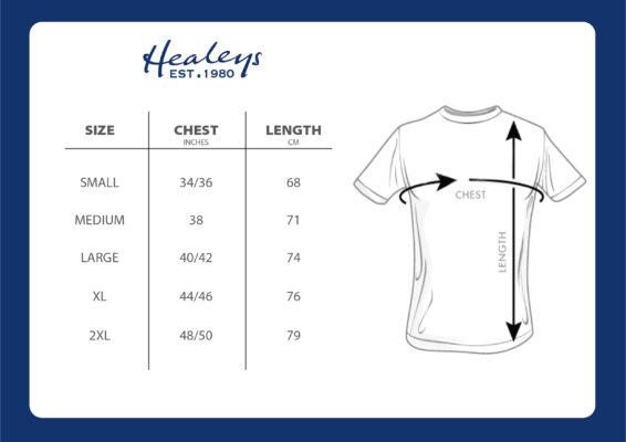 Rattler T-shirt Size Chart