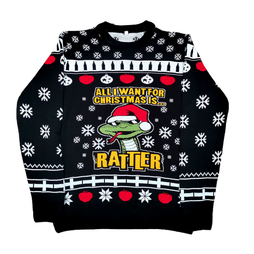 Black Rattler Christmas Jumper