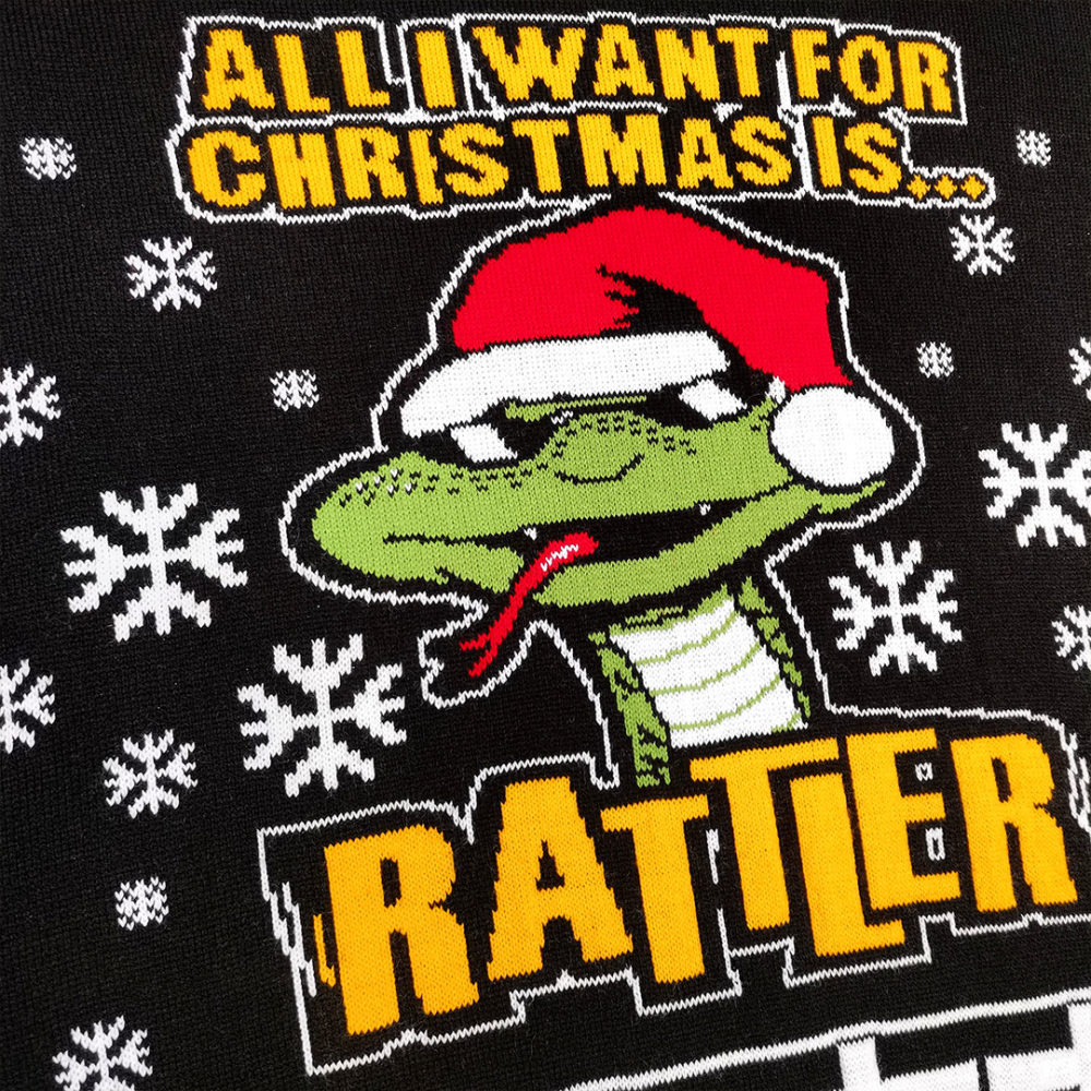 Black Rattler Christmas Jumper