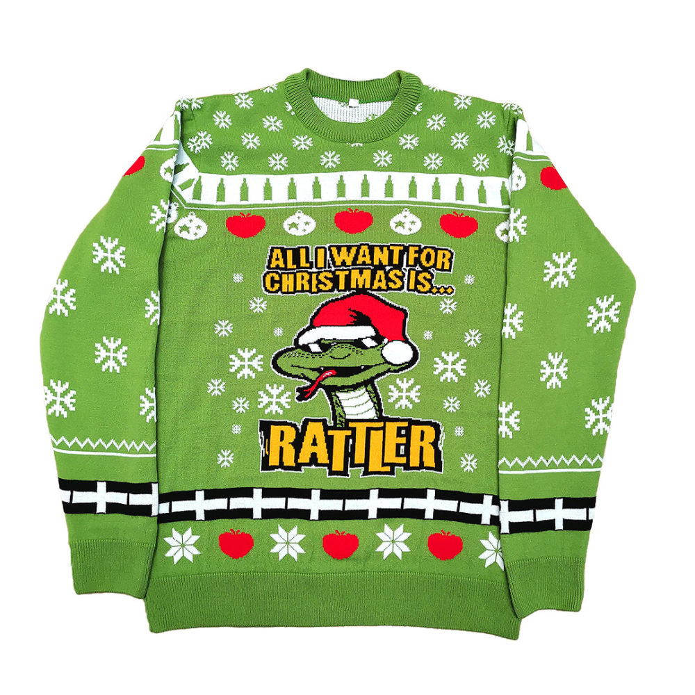 Green Rattler Christmas Jumper